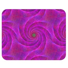 Pink Abstract Background Curl Double Sided Flano Blanket (medium)