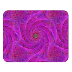 Pink Abstract Background Curl Double Sided Flano Blanket (large)