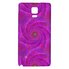 Pink Abstract Background Curl Galaxy Note 4 Back Case