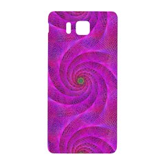 Pink Abstract Background Curl Samsung Galaxy Alpha Hardshell Back Case