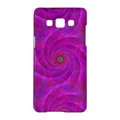 Pink Abstract Background Curl Samsung Galaxy A5 Hardshell Case