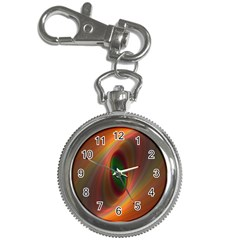Ellipse Fractal Orange Background Key Chain Watches