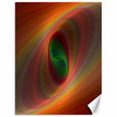 Ellipse Fractal Orange Background Canvas 18  X 24