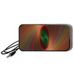 Ellipse Fractal Orange Background Portable Speaker (black)