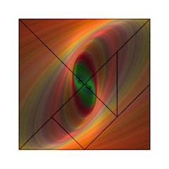 Ellipse Fractal Orange Background Acrylic Tangram Puzzle (6  X 6 )