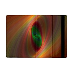 Ellipse Fractal Orange Background Apple Ipad Mini Flip Case