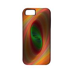 Ellipse Fractal Orange Background Apple Iphone 5 Classic Hardshell Case (pc+silicone)
