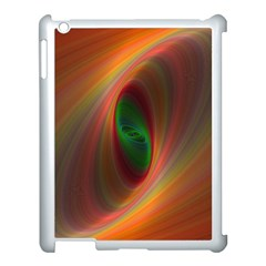 Ellipse Fractal Orange Background Apple Ipad 3/4 Case (white)