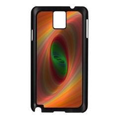 Ellipse Fractal Orange Background Samsung Galaxy Note 3 N9005 Case (black)