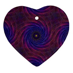 Pattern Seamless Repeat Spiral Heart Ornament (two Sides)