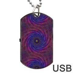 Pattern Seamless Repeat Spiral Dog Tag Usb Flash (two Sides)