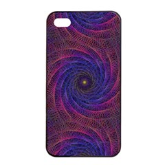 Pattern Seamless Repeat Spiral Apple Iphone 4/4s Seamless Case (black)