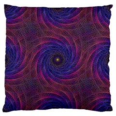 Pattern Seamless Repeat Spiral Large Flano Cushion Case (one Side)