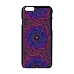 Pattern Seamless Repeat Spiral Apple Iphone 6/6s Black Enamel Case