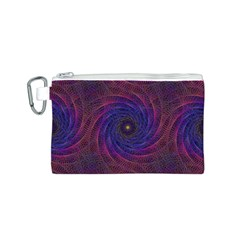 Pattern Seamless Repeat Spiral Canvas Cosmetic Bag (s)