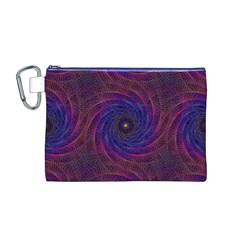 Pattern Seamless Repeat Spiral Canvas Cosmetic Bag (m)