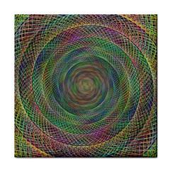 Spiral Spin Background Artwork Tile Coasters