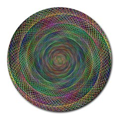 Spiral Spin Background Artwork Round Mousepads