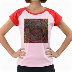 Spiral Spin Background Artwork Women s Cap Sleeve T Shirt