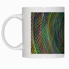 Spiral Spin Background Artwork White Mugs