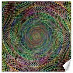 Spiral Spin Background Artwork Canvas 12  X 12
