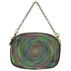 Spiral Spin Background Artwork Chain Purses (one Side)