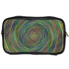 Spiral Spin Background Artwork Toiletries Bags 2 Side