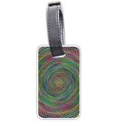 Spiral Spin Background Artwork Luggage Tags (two Sides)