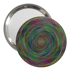 Spiral Spin Background Artwork 3  Handbag Mirrors