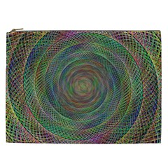 Spiral Spin Background Artwork Cosmetic Bag (xxl)