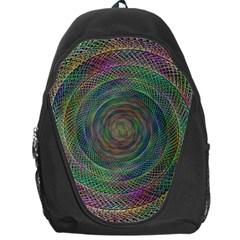 Spiral Spin Background Artwork Backpack Bag