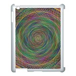 Spiral Spin Background Artwork Apple iPad 3/4 Case (White) Front