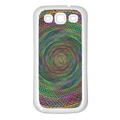 Spiral Spin Background Artwork Samsung Galaxy S3 Back Case (white)