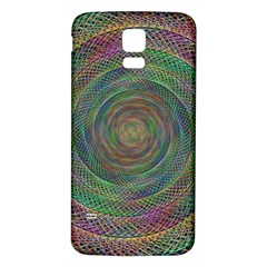 Spiral Spin Background Artwork Samsung Galaxy S5 Back Case (white)
