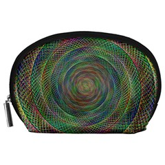 Spiral Spin Background Artwork Accessory Pouches (large)