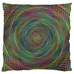 Spiral Spin Background Artwork Large Flano Cushion Case (one Side)