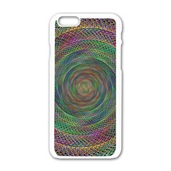 Spiral Spin Background Artwork Apple Iphone 6/6s White Enamel Case