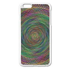 Spiral Spin Background Artwork Apple Iphone 6 Plus/6s Plus Enamel White Case