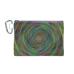 Spiral Spin Background Artwork Canvas Cosmetic Bag (m)