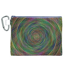 Spiral Spin Background Artwork Canvas Cosmetic Bag (xl)