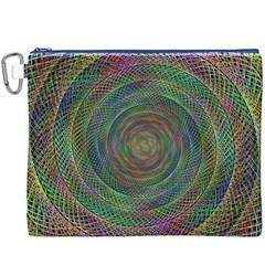 Spiral Spin Background Artwork Canvas Cosmetic Bag (xxxl)