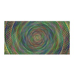Spiral Spin Background Artwork Satin Wrap
