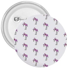 Sweet Flamingo Pattern 3  Buttons