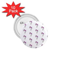 Sweet Flamingo Pattern 1 75  Buttons (10 Pack)