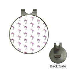 Sweet Flamingo Pattern Hat Clips With Golf Markers