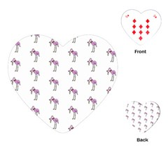 Sweet Flamingo Pattern Playing Cards (heart)