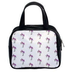 Sweet Flamingo Pattern Classic Handbags (2 Sides)