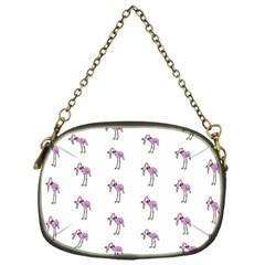 Sweet Flamingo Pattern Chain Purses (one Side)