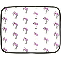 Sweet Flamingo Pattern Double Sided Fleece Blanket (mini)