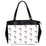 Sweet Flamingo Pattern Office Handbags (2 Sides)  Front